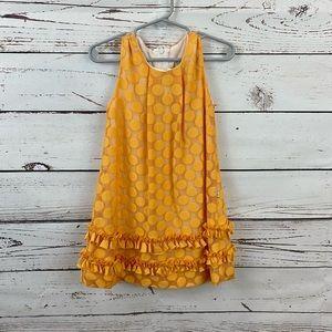 Lilax Orange Mod Dress Polka dots